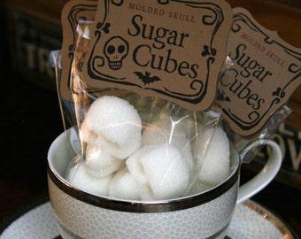 SKULL SUGAR CUBES, Gothic, Tea Lovers Gift, Gift for Best Friend Female