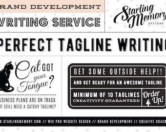 CUSTOM TAGLINE WRITING Service - Copywriting Service - Business Writing Service - Soul-Based Brand Development - Creative Coaching