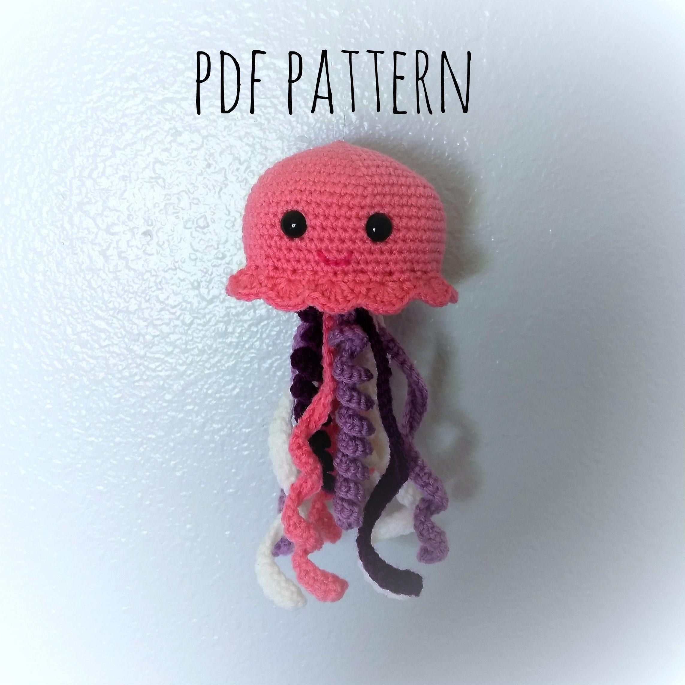 Crochet Jellyfish Pattern Crochet Jellyfish Jellyfish Cute Etsy