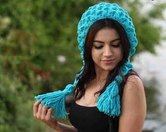 NEW - Crochet Pattern Crocodile Stitch Capuche Hat (Adult Size) instant PDF download