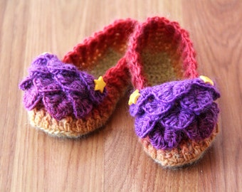 CROCHET PATTERN: Crocodile Stitch Loafers (Baby Sizes) - Permission to Sell Finished Product