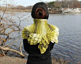 CROCHET PATTERN: Crocodile StitchDragon Leafy Capelet - Permission to Sell Finished Product