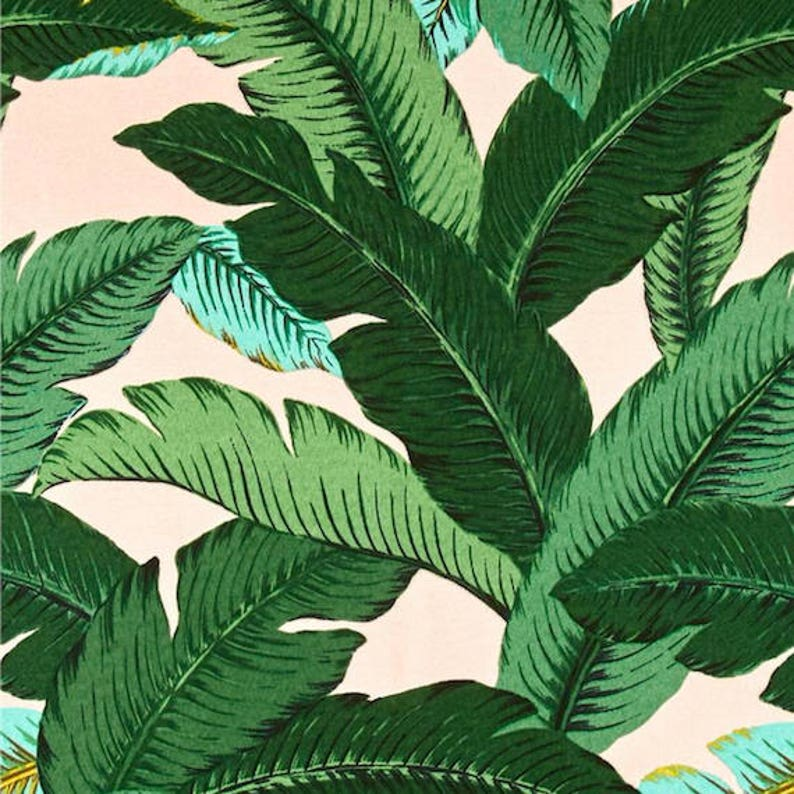 2610cd469742 Pink   Green Tropical Palms Decorative Designer Pillow Cover