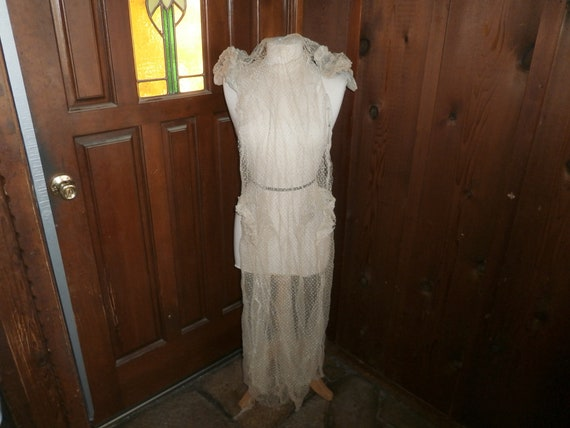 Edwardian Wedding Dress net dress collectible circ