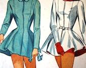 RESERVED Vintage 1940s Simplicity Skating Dress Hood Sewing Pattern B 32