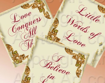 VALENTINES DAY scrabble vintage tiles with love words that mean something- 1 inch (220)  jewelry bows crafts scrapbooking, Instant download