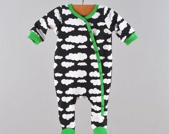Baby footed coverall pattern // pdf download // photo tutorial // Preemie to 3T // #43