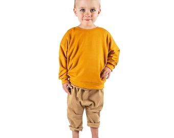 Lounge sweatshirt sewing pattern download, sizes 0 to 6T, pattern 125 easy photo tutorial