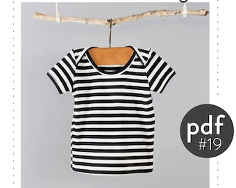 Baby lap neck tshirt pattern // digital download // Preemie-3T // long or short sleeve // #19