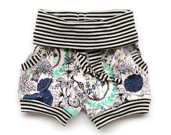 Pants and shorts sewing pattern // yoga waistband // rounded pocket // sizes preemie to 6 // #102