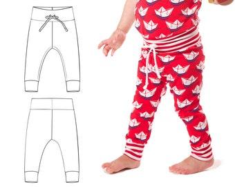 Baby leggings pattern pdf // photo tutorial // sizes Preemie-6T //  optional drawstring waist // #22