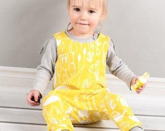 Harem romper pdf sewing pattern // photo tutorial // sizes preemie to 6 // #85
