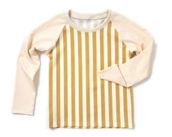 Raglan tee sewing pattern, pdf download, kids size 6 to 14Y, pattern K013