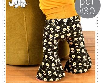 Kids bell bottoms pdf sewing pattern // photo tutorial // 0M-6T // #30
