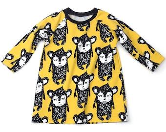 A-line raglan dress sewing pattern // digital download // 0-3m to 6T // #83