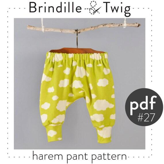 Kids harem pants sewing pattern // digital download // photo | Etsy
