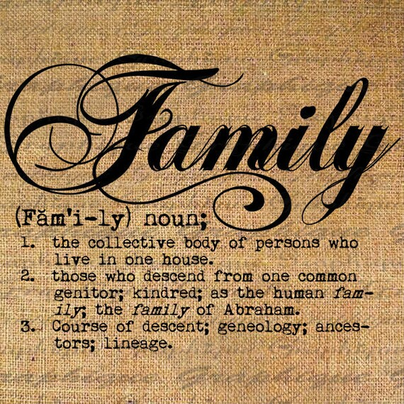 Definition Family Text Typography Words Digital Image Download Etsy