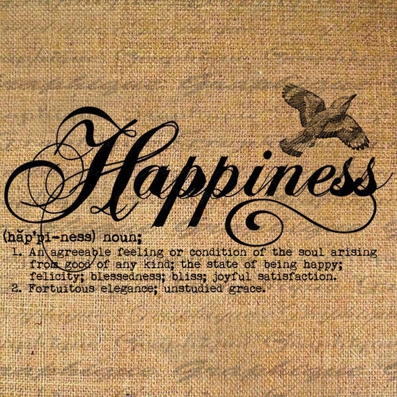 Definition Happiness Text Typography Words Digital Image Etsy