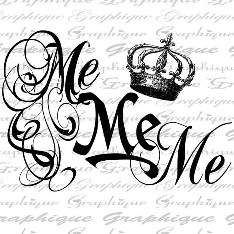 1663 ME Me ME Word Typography Digital Image Download Transfer To Pillows Totes Tea Towels Burlap No