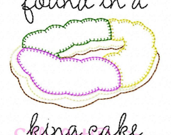 Vintage Stitch Found in a King Cake Embroidery Design