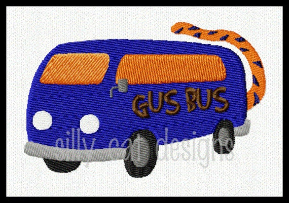 Gus Bus Fill Stitch Embroidery Design
