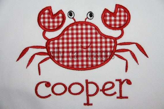 Crab Applique Machine Embroidery Design