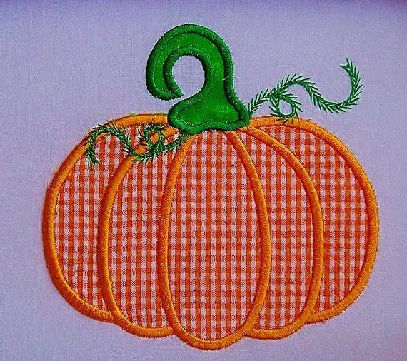 Satin Pumpkin Applique Embroidery Design