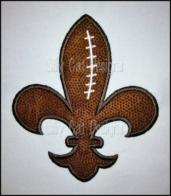 Football Fleur De Lis Applique Machine Embroidery Design