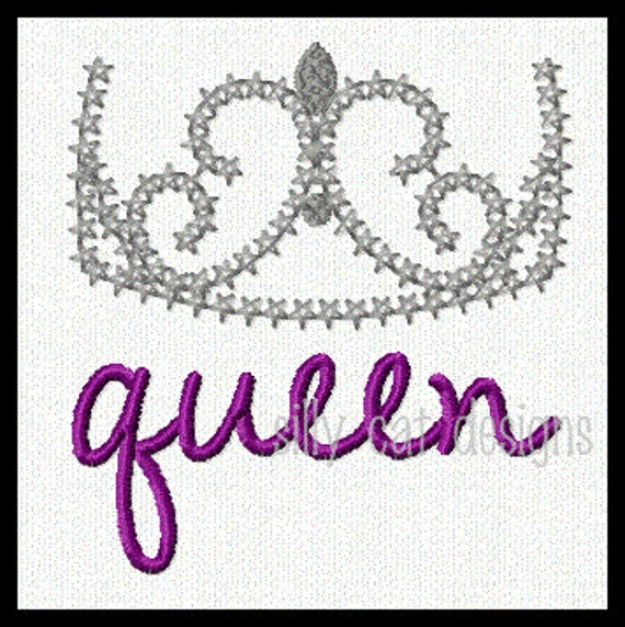 Queen Delicate Crown 1 Embroidery Design