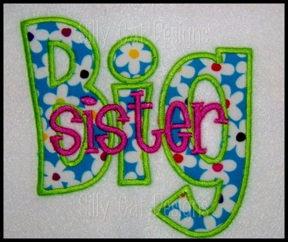 Big/Lil Sister Applique Design