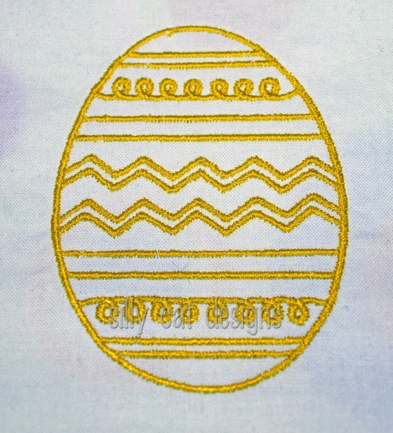 Decorative Easter Egg Machine Embroidery Design
