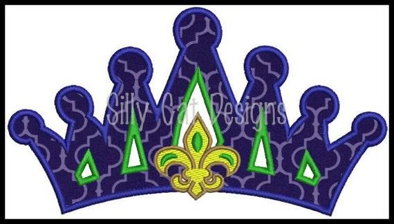 Fleur De Lis Crown Applique Design