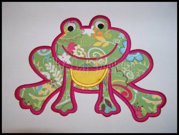 Froggy Applique Machine Embroidery Design