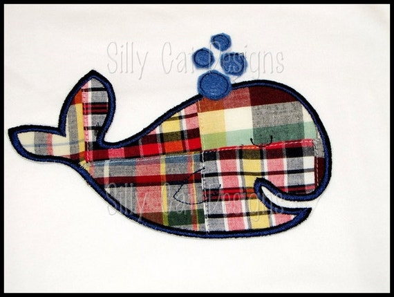 Boy Whale Applique Design