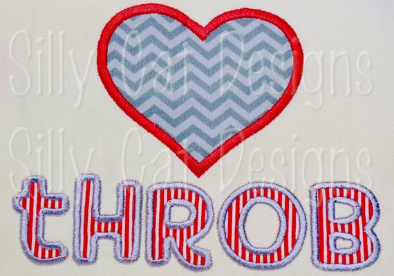 Heart Throb Applique Design