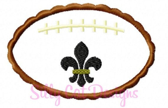 Scallop Football Fleur De Lis Applique