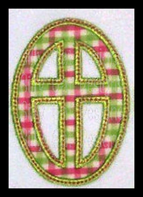 Cross Egg Patch Applique Machine Embroidery Design