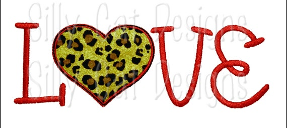Love and Heart Applique Design (2 finishes)