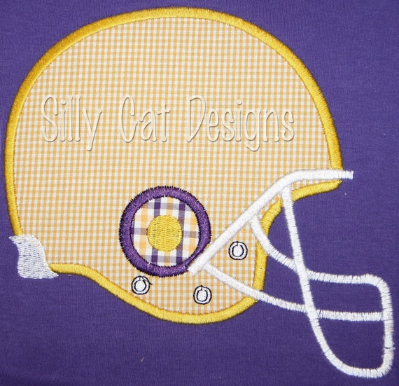 Football Helmet Applique Design