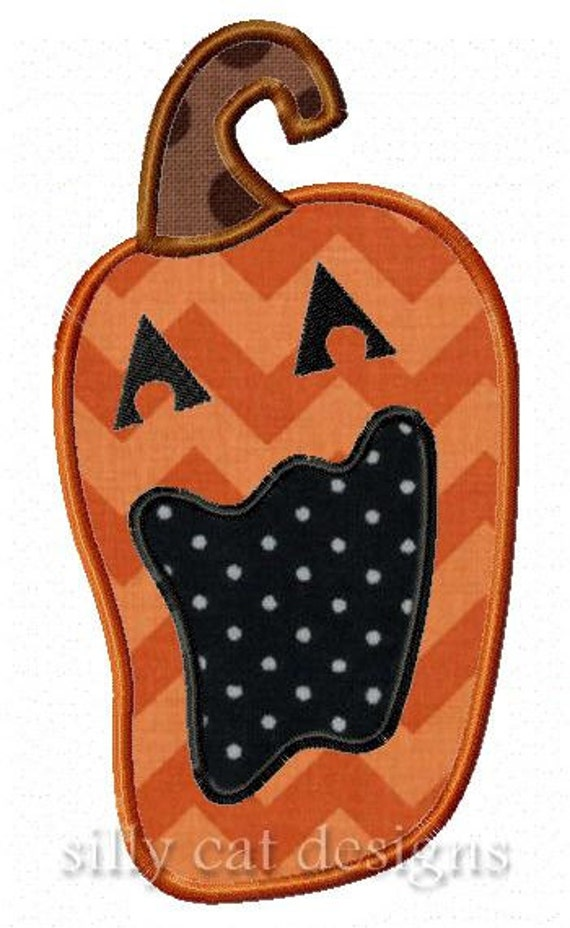 Big Mouth Pumpkin Applique Embroidery Design