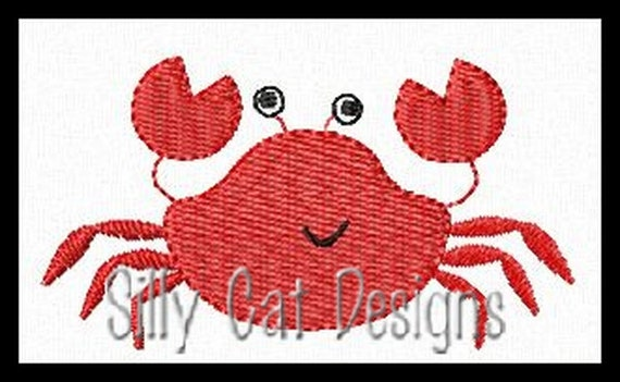 Crab Mini Fill Stitch Embroidery Design