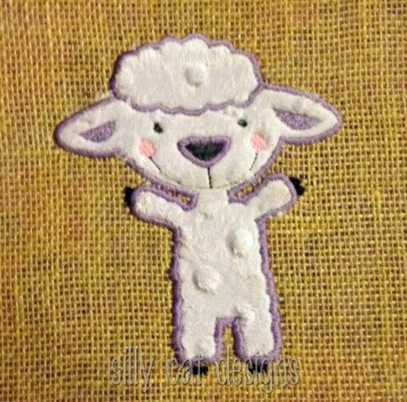 Lamb Body Applique Machine Embroidery Design