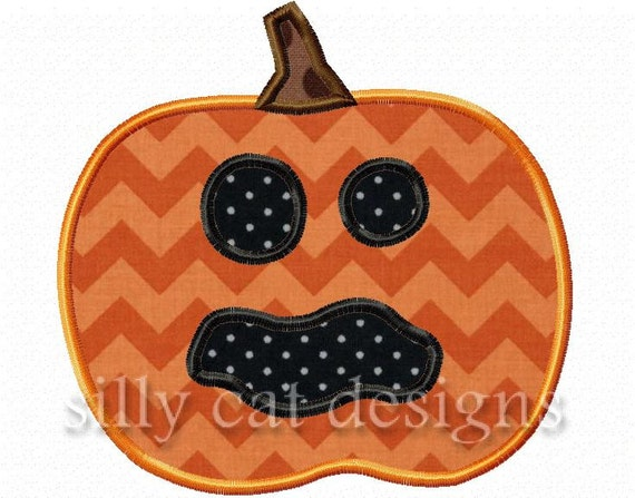 Spooky Pumpkin Applique Embroidery Design