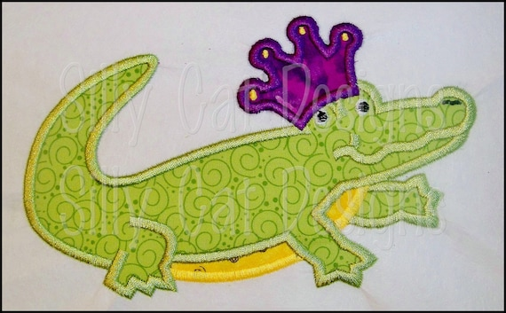 Alligator King Applique Design