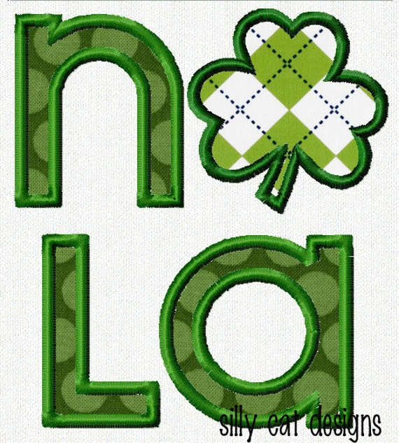 NOLA Clover Applique Machine Embroidery Design