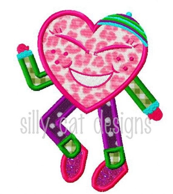 Dancing Heart Applique Design