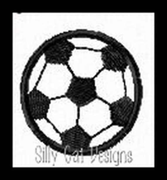 Soccer Mini Fill Stitch Embroidery Design