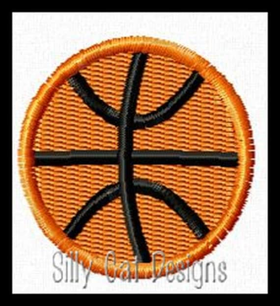 Basketball Mini Fill Stitch Embroidery Design