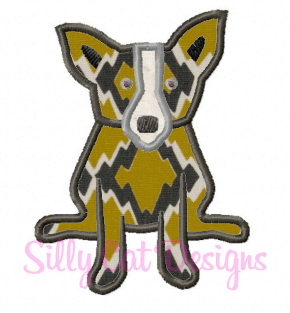 Cute Dog Applique  Design