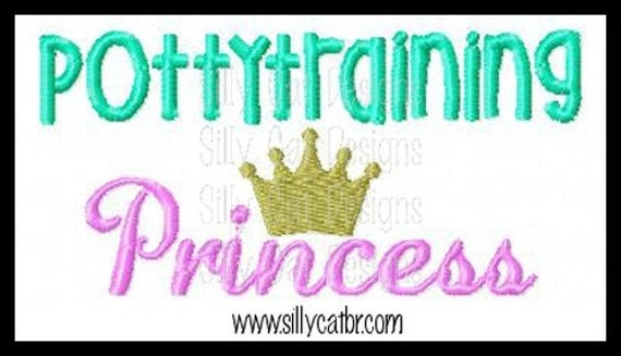Pottytraining Princess Applique Design